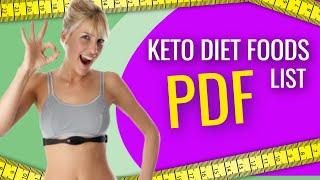 keto diet food list pdf -
