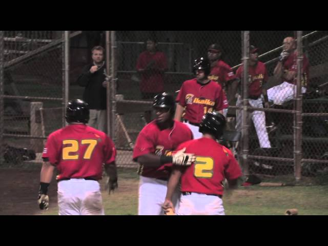 07/13/13 Ray Serrano Home Runs Home games mid season - Na Koa Ikaika Maui Baseball