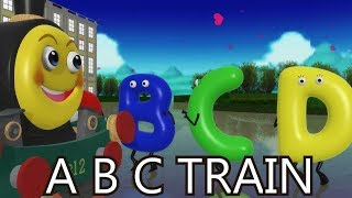 ABC Smiley Train | Nursery Rhymes for Kids |Preschool Songs |kids song |