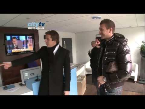 DZEKO Signing: Edin Dzeko arrives for first day of training at Manchester City (January 2011) HD