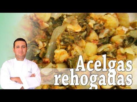 Acelgas rehogadas - Recetas de cocina