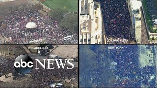 Thousands rally for Women's March by : ABC News