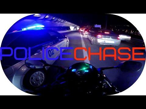 Свалил От Полиции На Мотоцикле