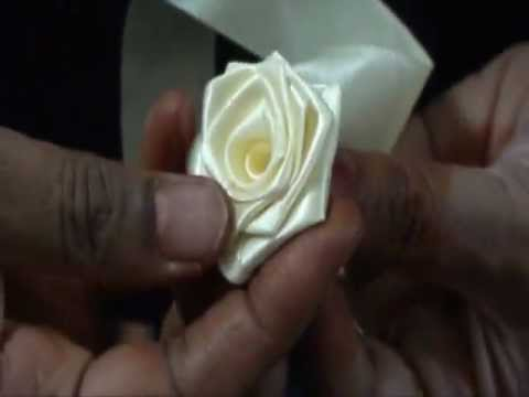 How to make a satin ribbon Rose