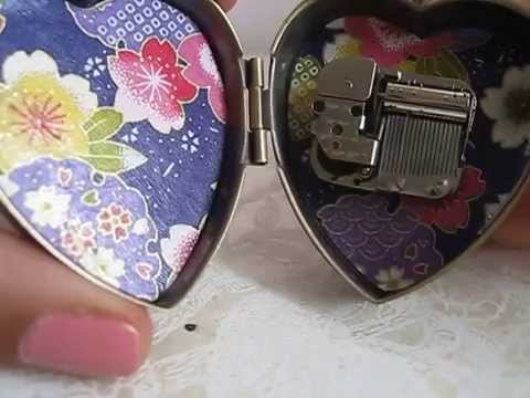Pirates of the Caribbean music box locket by My Secret Music Box