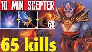 10 Min Scepter 5000 Finger Damage 68 stacks  | Dota 2 Silly Builds