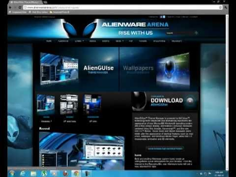 How to apply Alienware Breed Theme for Windows 7