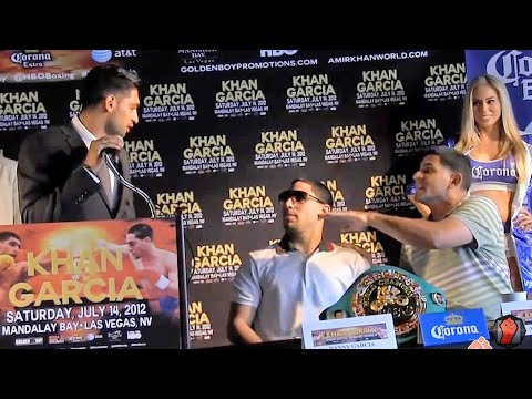 Amir Khan vs. Danny Garcia Press conference highlights: Garcia dad goes off on khan