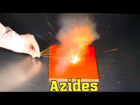Azides: sodium azide NaN3 and lead azide Pb(N3)2