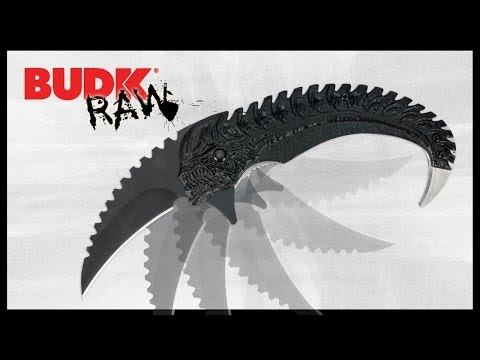 Dead Alien Skull Sawback Assisted Opening Karambit - $9.99