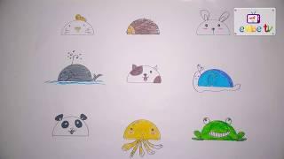 Dạy Bé Vẽ Các Con Vật Hay Nhất | BÉ HỌC VẼ - Dạy bé học online