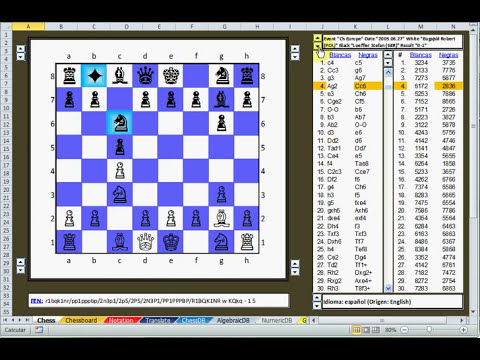 Visor Ajedrez Excel Chess Viewer
