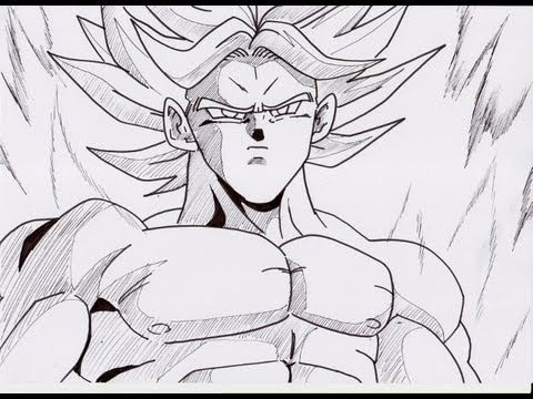 HOW TO DRAW YOUNG BROLY ブロリー