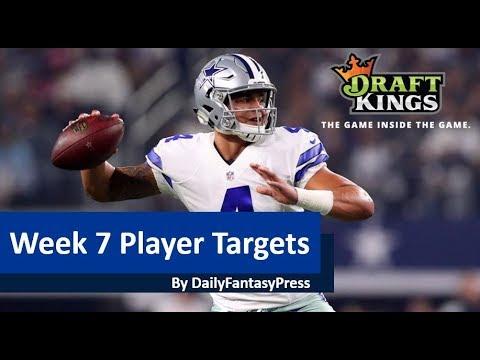NFL Week 7 2017 DraftKings Picks