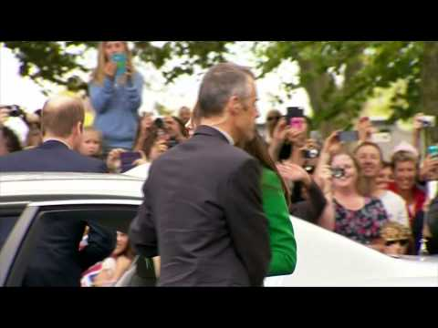 Así vivieron William y Kate su llegada a Hamilton, NZ.