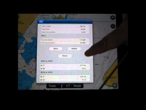 Using the Navionics Mobile App