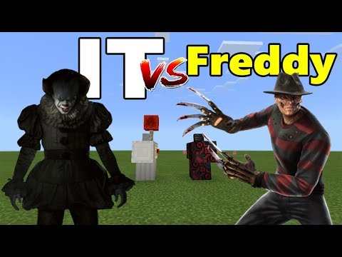 IT vs Freddy (Pennywise vs Freddy Krueger)   Minecraft PE