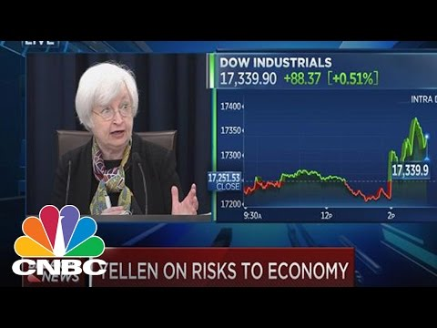 Yellen: US economy expanding at moderate pace   CNBC