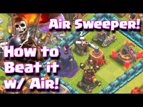 Clash Of Clans How To Beat The New Air Sweeper Defense Using Air Armies   Clash Of Clans Update