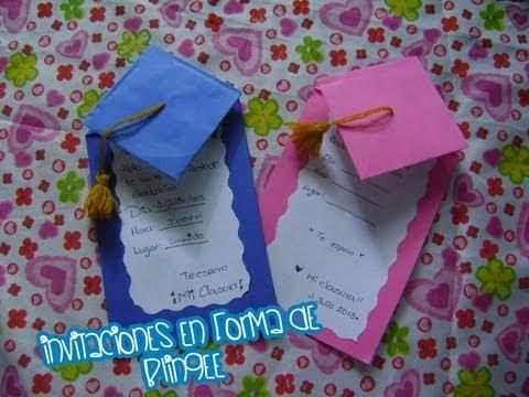 @xoOlexiitOo ❥DIY || invitación para fiesta de graduación || Manualidades para clausuras ♥