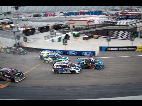 Ken Block Finishes Second At The Global Rallycross Championship Bristol Final video
