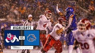 No. 25 Fresno State vs. No. 22 Boise State Football Highlights (2018)   Stadium