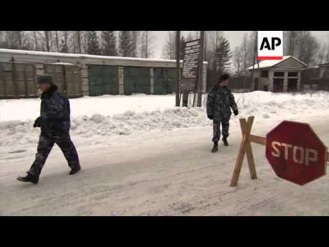 Exteriors of prison after Russian tycoon Mikhail Khodorkovsky reportedly released