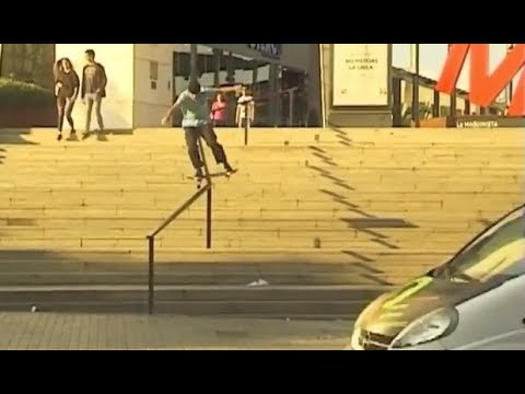 INSTABLAST! - XTREME Fisheye BASHED IN! Double Flip 14 Stair!! Bs Smith Fs Bigger Spin Out!!