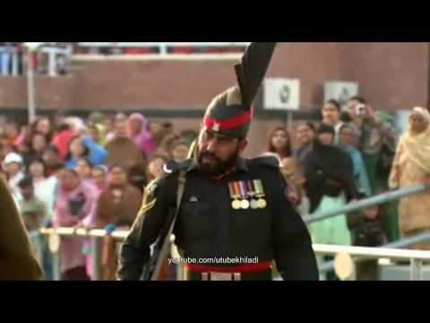 Wagah - Attari Border Closing Ceremony By India & Pakistan video