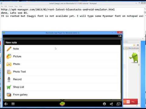 Install Zawgyi_one font on Bluestacks 0.7.11.885