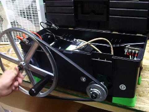Crank A Watt Tm Hand Crank Bike Pedal Generator Set Up