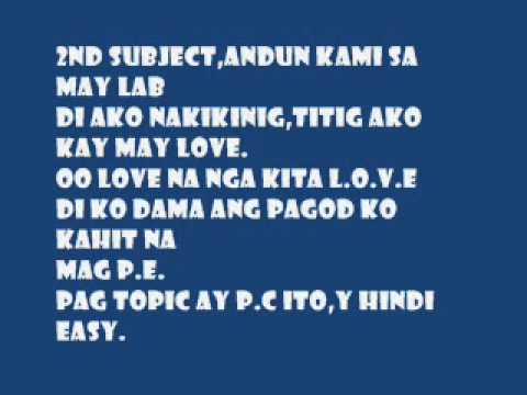 Hambog Classmate Lyrics video