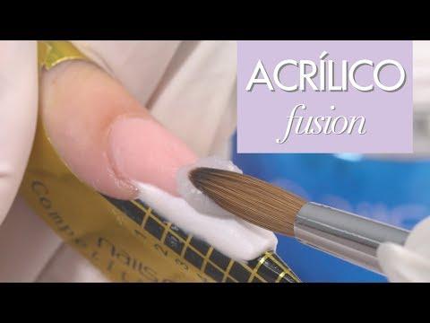 FUSION ACRÍLICO - Manicure Francesa - Passo a passo