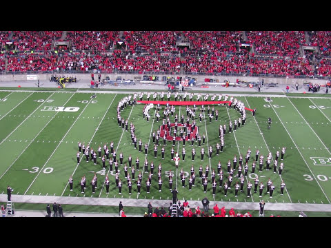 Ohio State Marching Band Hollywood  Blockbusters Halftime Show 10 26 2013 OSU vs Penn State