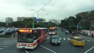 台北市雙層觀光巴士 正式營運 紅線 台北車站-捷運市政府站 路程景 Taipei Sightseeing Hop on Hop off