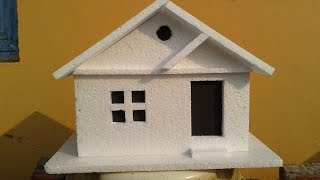 How to make a simple Thermocol Model House: Thermocol crafts
