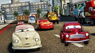 Cars 3 Driven to Win - Lightning McQueen and Mater the Greater - Miss Fritter Battle Race