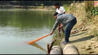 Net Fishing | Catching Big Fish With Cast Net | Net Fishing in the village (Part-110)