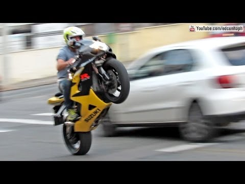 Bikers 75 - BMW HP4, Suzuki & Honda Wheelies and Burnouts, Kawasaki, Yamaha - Superbikes Sounds