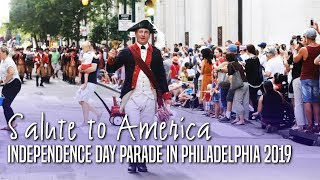 United States of America Independence Day parade in Philadelphia 2019