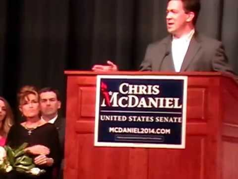 Chris McDaniel and Sarah Palin Campaign Rally---Recorded by T. Bennett