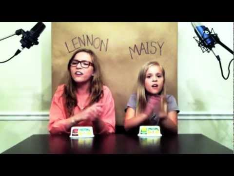 'Call Your Girlfriend' Robyn/ Erato cover by Lennon & Maisy Stella Music Videos