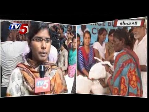 Rice Bucket Challenge Touched Karimnagar Youth | Huge response to RBC : TV5 News