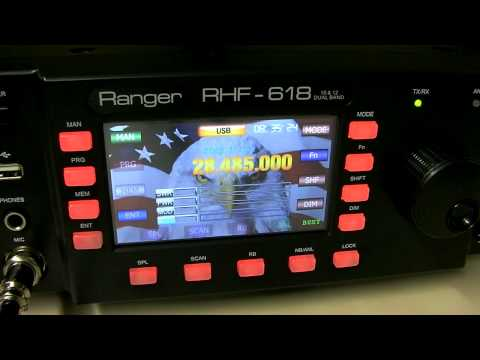 Ranger RHF-618 Receiving 10 meters T32C DXpedition East Kiribati