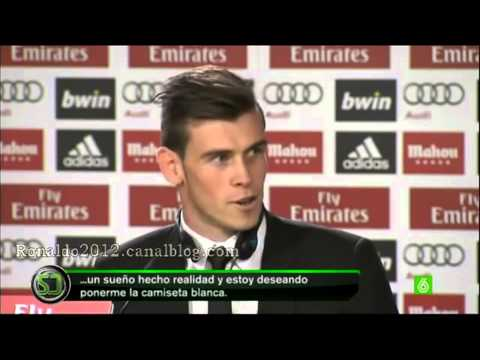 Real Madrid - Gareth Bale interview talking about Cristiano Ronaldo and Zidane - Hala Madrid