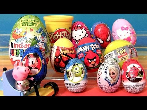 Surprise Eggs Lalaloopsy Minecraft MLP Pony HelloKitty Disney Frozen Play-Doh Minnie Sorpresa Huevos