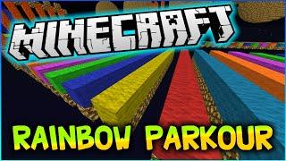 Minecraft RAINBOW SPEED RACE! - Lightning Fast Parkour Map w/Pete, Preston and Kenny