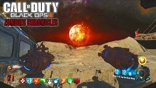 MOON REMASTERED SOLO EASTER EGG!!! - BLACK OPS 3 ZOMBIE CHRONICLES DLC 5 GAMEPLAY!