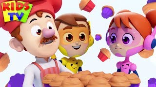 Muffin Man | The Supremes Cartoons | Children's Nursery Rhymes & Baby Songs - Kids TV