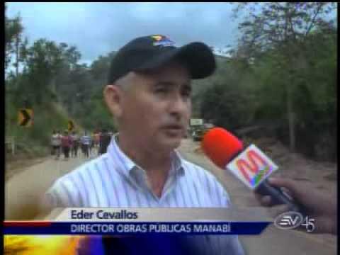 Varias carreteras de Manabí han sido dañadas por deslaves y desbordamientos
